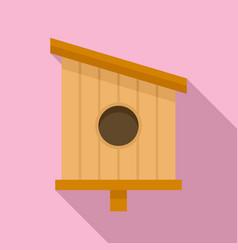 Park bird house icon flat style vector