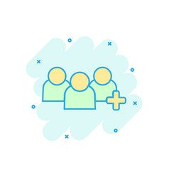 people communication user profile icon in comic vector image