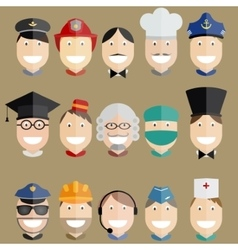 Professional people set vector