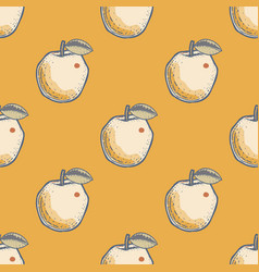 Quirky apple seamless pattern vector