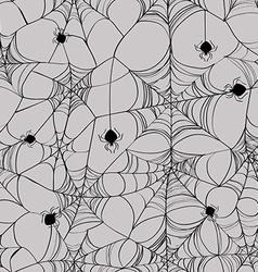 seamless pattern spider web vector image