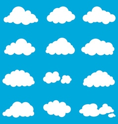 set cloud smoke element decor isolated for game vector image
