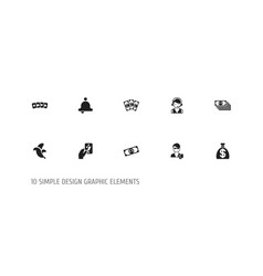 set of 10 editable gambling icons includes vector image
