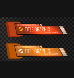 set video headline title or lower third vector image