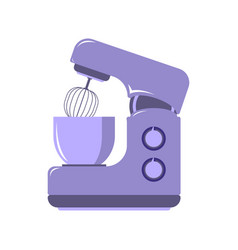 side view picture of kitchen mixer food processor vector image