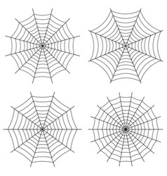 spider web set of icons cute gothic style vector image