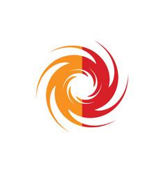 Spin abstract swirl gear logo vector