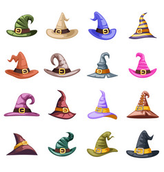 spooky evil witch old hat decoration october vector image