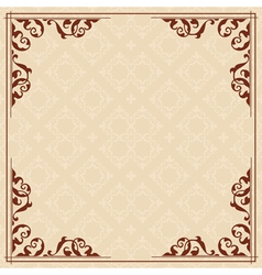 square card with vintage ornament vector image