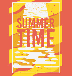 summer time typographic poster design vector image