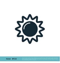 Sun solar icon logo template design eps 10 vector