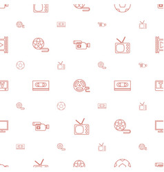 television icons pattern seamless white background vector image