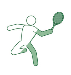 Tennis player pictogram vector