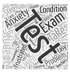 Test anxiety Word Cloud Concept vector