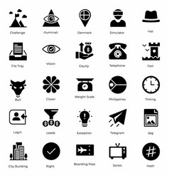 Ultimate icons pack vector