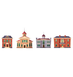 urban retro colonial style building cartoon vector image