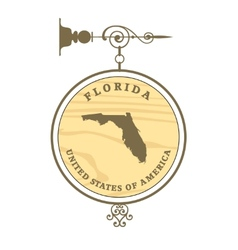 Vintage label Florida vector image