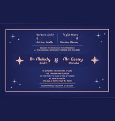 wedding invitation template certificate backgrou vector image