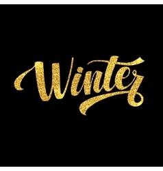Winter Holidays Card Golden Shiny Glitter vector