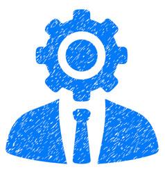 Worker grunge icon vector