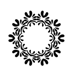 Floral ornament elements collection isolated vector image