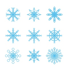 snowflakes icons set vector image vector image