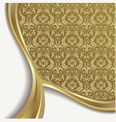 white and gold background vector image vector image