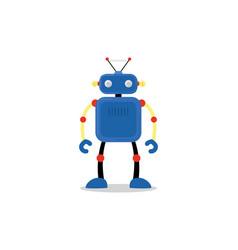 blue robot icon vector image