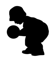 boy playing with a ball vector image
