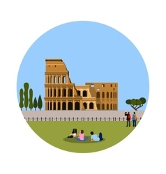 Colosseum icon isolated on white background vector image