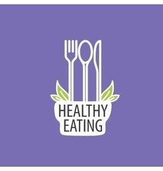 logo healthy eating vector image vector image
