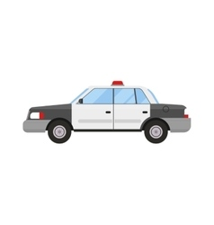 Police car sport modern style flat vector image