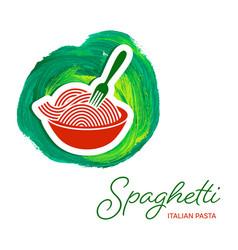 spaghetti pasta creative design vector image vector image