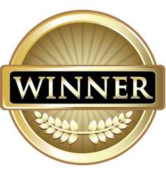 winner gold icon vector image
