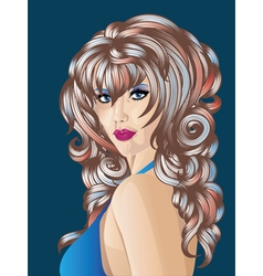 Woman with colorful hair vector