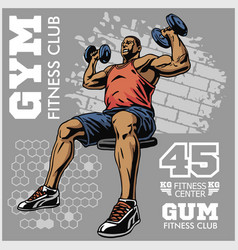 bodybuilder t-shirt design - vector image