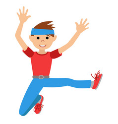 Boy in dancing class vector