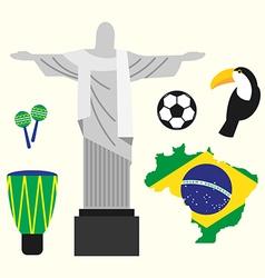 Brazil travel concept flat design vector image vector image