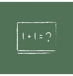 Maths example on the blackboard icon drawn in vector image vector image