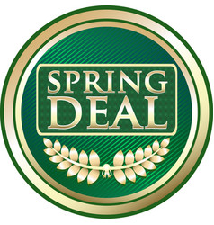 spring deal icon vector image vector image