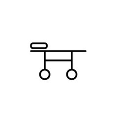 stretcher icon on white background vector image