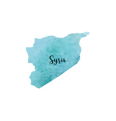 abstract syria map vector image