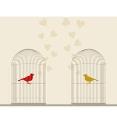 Bird of love4 vector image vector image