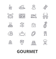 gourmet food chef restaurant dinner wine vector image vector image
