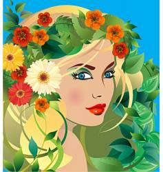 summer goddess vector image