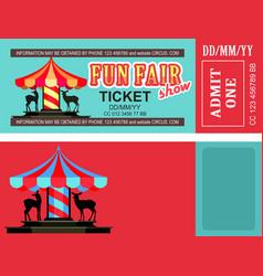 ticket amusement park vector image vector image