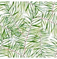 Watercolor tropical leafs pattern vector image