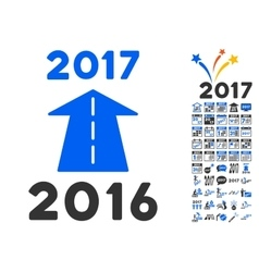 2017 Future Road Icon With 2017 Year Bonus vector image