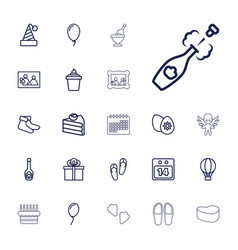 22 holiday icons vector