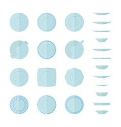 Abstract dishes vector